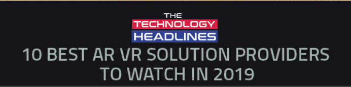 Paracosma recognized as one of 'The 10 Best AR:VR Solution Providers to Watch in 2019'
